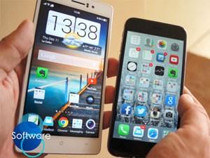 Điện thoại - iPhone 6 đọ dáng cùng Oppo R5