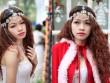 Nữ sinh ĐH Quốc gia gợi cảm trên phố Giáng sinh