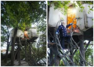 Phi thường - kỳ quặc - Nghệ sĩ lập dị thuê đất 300 triệu xây nhà trên cây