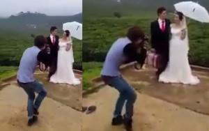 """Thời trang - Chàng """"phó nháy"""" vừa nhảy vừa chụp ảnh cưới"""