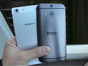 Điện thoại - HTC One M8 vs Oppo R5: Mạnh mẽ đọ siêu mỏng