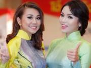 Thời trang - Hoa hậu Kỳ Duyên nhí nhảnh bên chân dài Thanh Hằng
