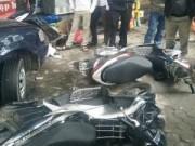 Tin tức trong ngày - Nghệ An: Xế hộp tông hàng loạt ô tô, xe máy