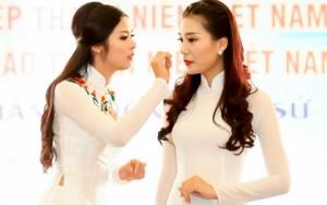 """Thời trang - Ngọc Hân chăm chút cho """"đàn em"""" Kiều Anh"""