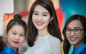 Người mẫu - Hoa hậu - Hoa hậu Đặng Thu Thảo xinh tươi tại Hà Nội
