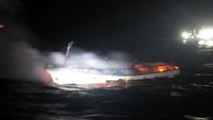 Tin tức trong ngày - Tàu cá Hàn Quốc bốc cháy, 2 thuyền viên người Việt mất tích