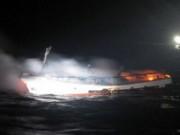 Video An ninh - Tàu cá Hàn Quốc bốc cháy, 2 thuyền viên người Việt mất tích