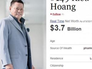 Tỷ phú Hoàng Kiều lọt top 400 người giàu nhất Mỹ
