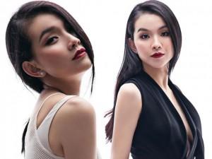 Hoa hậu Thùy Lâm lấp ló thềm ngực với váy khoét sâu