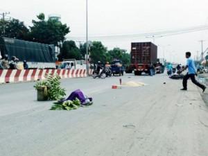 Tin tức trong ngày - Né xe tải bên đường, một phụ nữ bị container cán tử vong