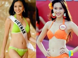 Thời trang - Các thế hệ hoa hậu Việt đọ dáng trong phần thi bikini