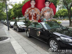 Phim - Dàn xe siêu sang Rolls-Royce tại đám cưới Huỳnh Hiểu Minh