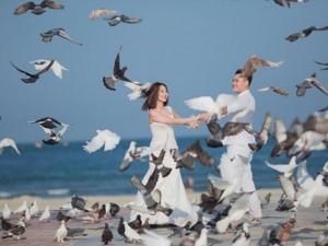 Ảnh cưới tuyệt đẹp của Vũ Duy Khánh và DJ Tiên Moon