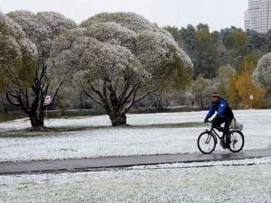 Tuyết đầu mùa phủ trắng thủ đô Nga