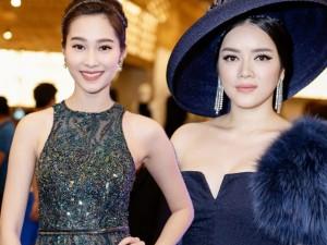 Váy - Đầm - Lý Nhã Kỳ đọ sắc với Thu Thảo trên thảm đỏ Elle Show