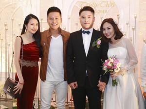 Vợ chồng Tuấn Hưng đến mừng đám cưới Vũ Duy Khánh
