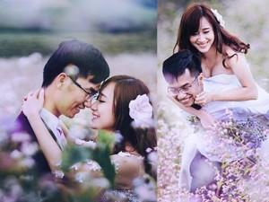 Bạn trẻ - Cuộc sống - Mê mẩn bộ ảnh cưới giữa cánh đồng hoa tam giác mạch