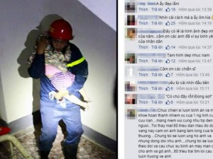 Tin tức trong ngày - Gặp lính cứu hỏa trong bức ảnh ôm bé gái gây xúc động