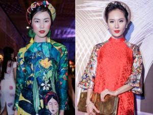 """Helly Tống, Phương Linh  """" gây mê """"  với áo dài cách tân"""