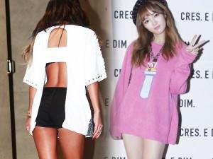 """Váy - Đầm - Mỹ nữ khoe lưng, """"giấu quần"""" ở tuần thời trang Seoul"""