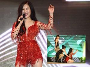 Ca nhạc - MTV - Hương Tràm ngã sõng soài trên sân khấu