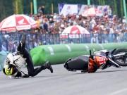 Thể thao - Nhiều tay đua nhập viện ở giải đua xe lớn nhất VN
