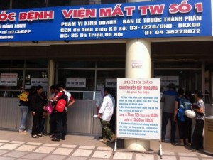 Tin tức Việt Nam - Bệnh viện Mắt Trung ương hoãn mổ vì… hết vật tư