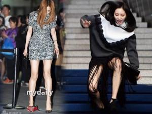 """Giầy - dép - Sao Hàn rơi giày, """"vồ ếch"""" ở đại tiệc thời trang"""