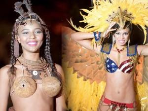 Người mẫu - Hoa hậu - Đối thủ của Lệ Quyên mặc áo lót bằng gáo dừa kỳ lạ