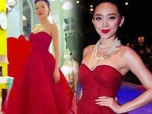 Thời trang - Váy hot nhất tuần: Đầm cúp ngực 150m vải của Tóc Tiên