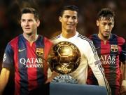 Bóng đá - Danh sách QBV FIFA 2015: Messi, CR7 dè chừng Neymar