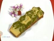 Cách làm bánh bông lan bơ trà xanh thơm ngon, lạ miệng