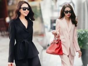 Thời trang - Trà Ngọc Hằng xinh tươi trên phố Hà Nội