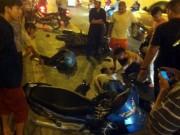 Tin tức trong ngày - Hà Nội: Xe máy đấu đầu kinh hoàng trong hầm Kim Liên