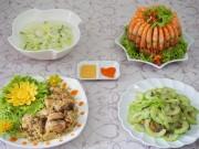 Ẩm thực - Thực đơn cơm chiều ngon miệng cho 4 người