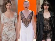 Váy ngủ tấp nập xuất hiện tại các tuần lễ thời trang