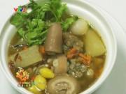 Ẩm thực - Đuôi heo hầm bạch quả và củ cải trắng