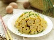 Ẩm thực - Trứng cuộn thịt đơn giản cho bữa cơm tối