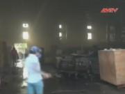 Video An ninh - Bình Phước: Cháy do nổ điện, hàng trăm công nhân hoảng loạn