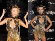 Thời trang - Chân dài 36 tuổi nổi nhất Halloween với váy mỏng tang