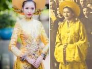 """Thời trang - """"Áo dài của á khôi Thúy Vân không giống Trung Quốc!"""""""