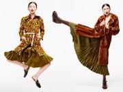 Thời trang - Kha Mỹ Vân tạo dáng hài hước với áo khoác lông