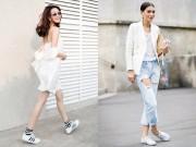 """Thời trang - 7 cách để thật """"ngầu"""" với giày thể thao trắng"""