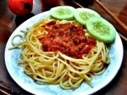 Cách làm spaghetti sốt cà chua bò băm đơn giản nhất