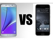 HTC One A9 so kè với Samsung Galaxy Note 5