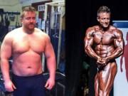 Làm đẹp - Người đàn ông 127kg bỗng cơ bắp cuồn cuộn nhờ cá cược
