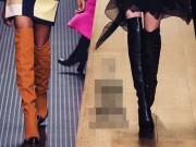 """Thời trang - Boot dài qua gối """"gây mê"""" tại sàn diễn thời trang"""