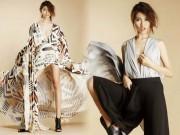 Thời trang - Quỳnh Châu tạo dáng trễ nải với váy áo xẻ sâu