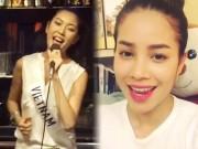 Video clip Thời trang - Loạt clip khoe giọng hát của dàn hoa hậu, á hậu Việt