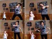 Bạn trẻ - Cuộc sống - Clip: Màn nhảy cực ngầu của bé gái và mẹ mang bầu